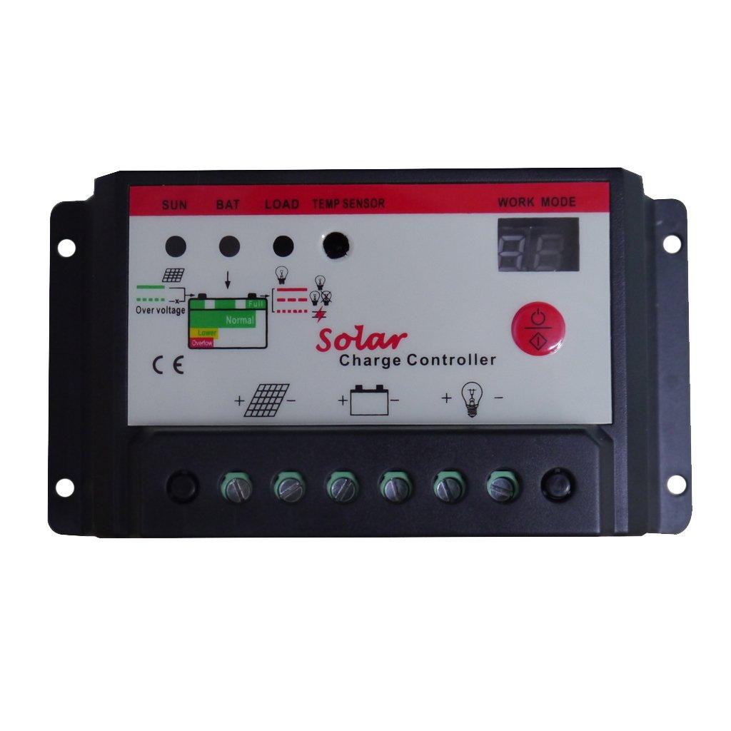 MonkeyJack Intelligent 10A 20A 30A PWM Solar Panel Charge Controller 12V 24V Battery Regulator - 30A
