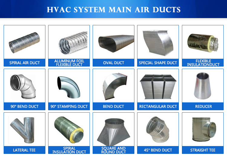 Ventilation Systems Ducting : Gi hvac ventilation spiral air duct buy