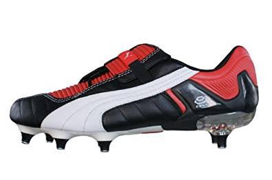 bb4dc34f9 Puma V Konstrukt III SG Mens Leather soccer Boots   Cleats - Black   Red