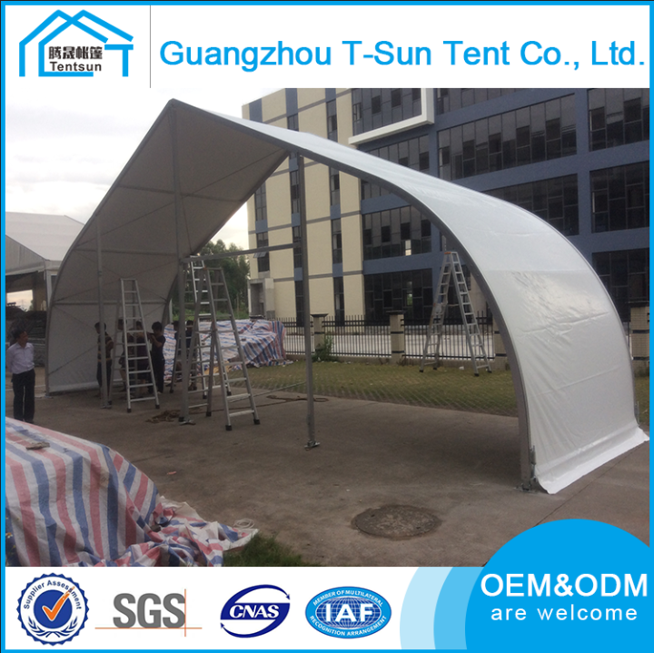 China Curve Shape outdoor aluminium big wedding event party marquee tent