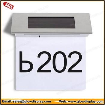 Zonne-energie Led Huisnummer Moderne Outdoor Muur Plaque Licht - Buy ...