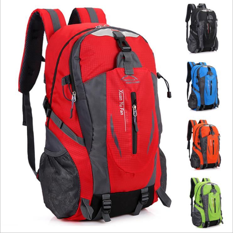 40L Outdoor Mountaineering Bags Water Repellent Nylon Shoulder Bag Men And Women Travel Hiking Camping <strong>Backpack</strong>