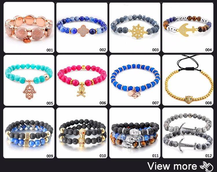 2017 Wholesale Custom Gemstone Jewellery Engraved Metal Charm Natural Stone Beaded Stretch Friendship Bracelets For Women