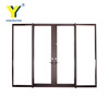 Stained Glass Sliding Lowes Wrought Iron Security Doors with Sound System Certificated by Alibaba in China