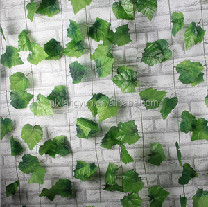 2018 New design artificial ivy leaves grape shape vine outdoor decoration top quality