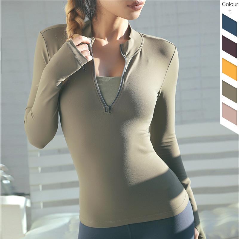 Half-Zipper-Quick-Dry-Sport-Shirt-Polyester