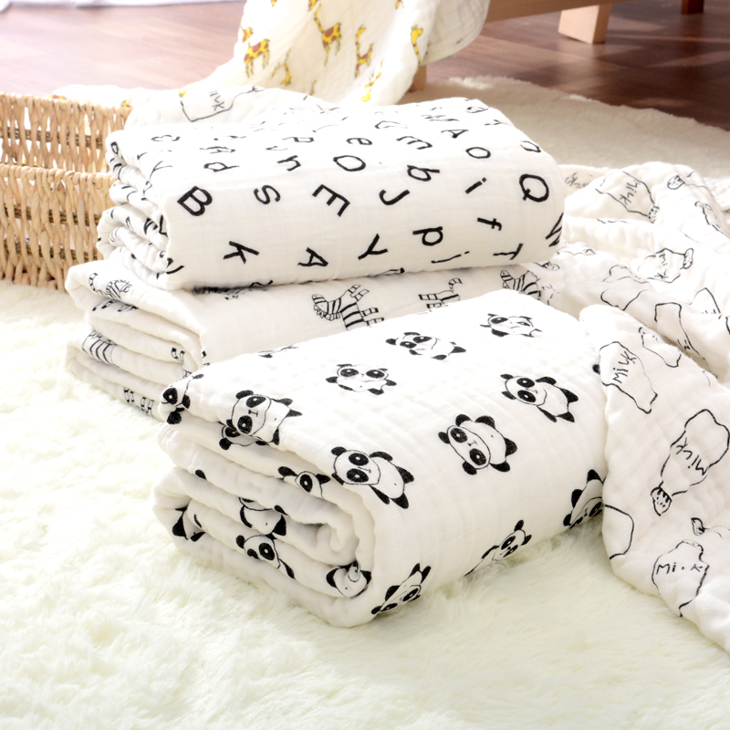 china market baby blankets 100% cotton muslin swaddle