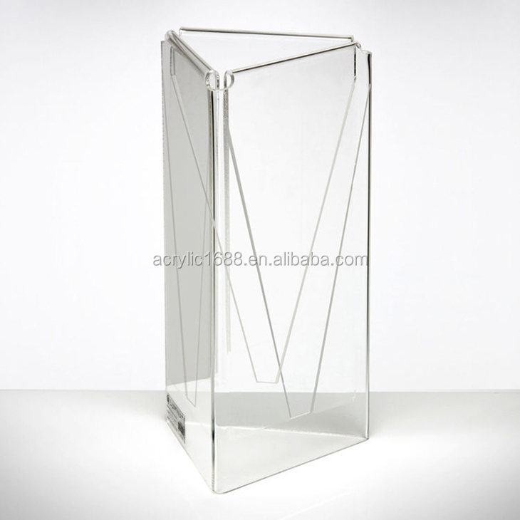 Premium Three-Face Tabletop Menu & Acrylic Leaflet Stand Holder