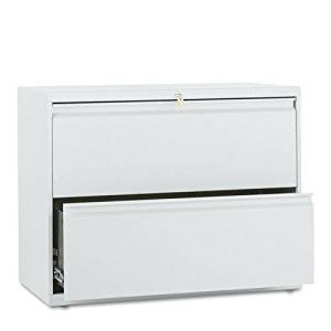 HON : 800 Series Two-Drawer Lateral File, 36w x 19-1/4d x 28-3/8h, Light Gray -:- Sold as 2 Packs of - 1 - / - Total of 2 Each