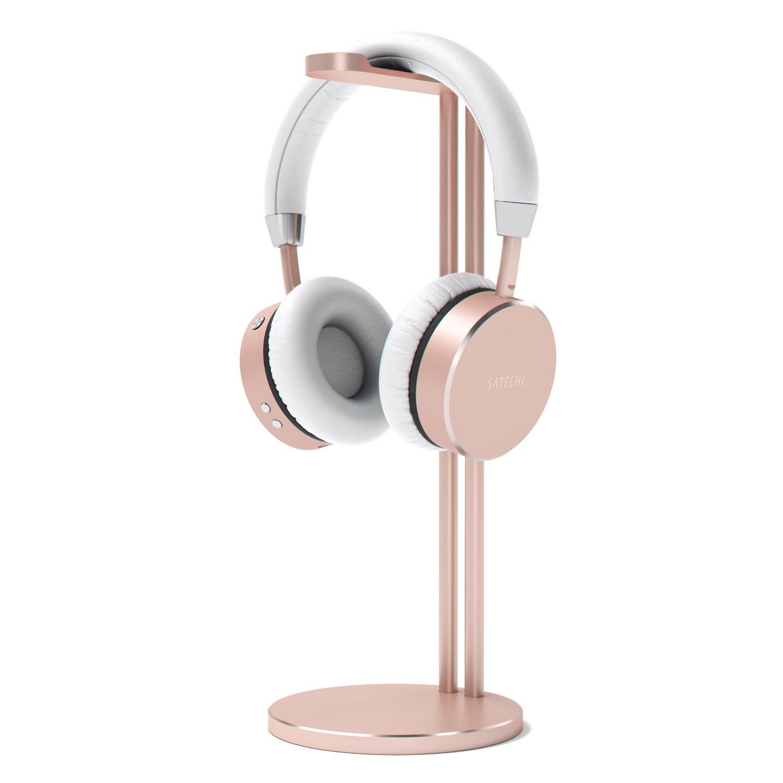 Satechi Aluminum Slim Headphone Stand, Suitable for Beats, Sennheiser, Sony, Audio-Technica, Bose, Shure, AKG, Panasonic Headphones and More (Rose Gold)