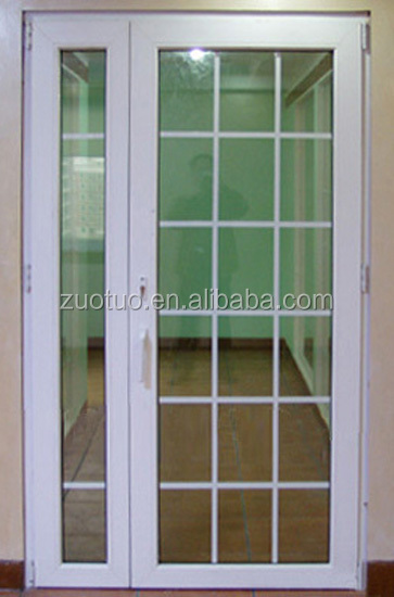 Pvc puertas abatibles con parrillas dise o barato pvc - Puertas de exterior de pvc ...