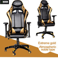 Dickson computer game yellow and black PU leather executive chair
