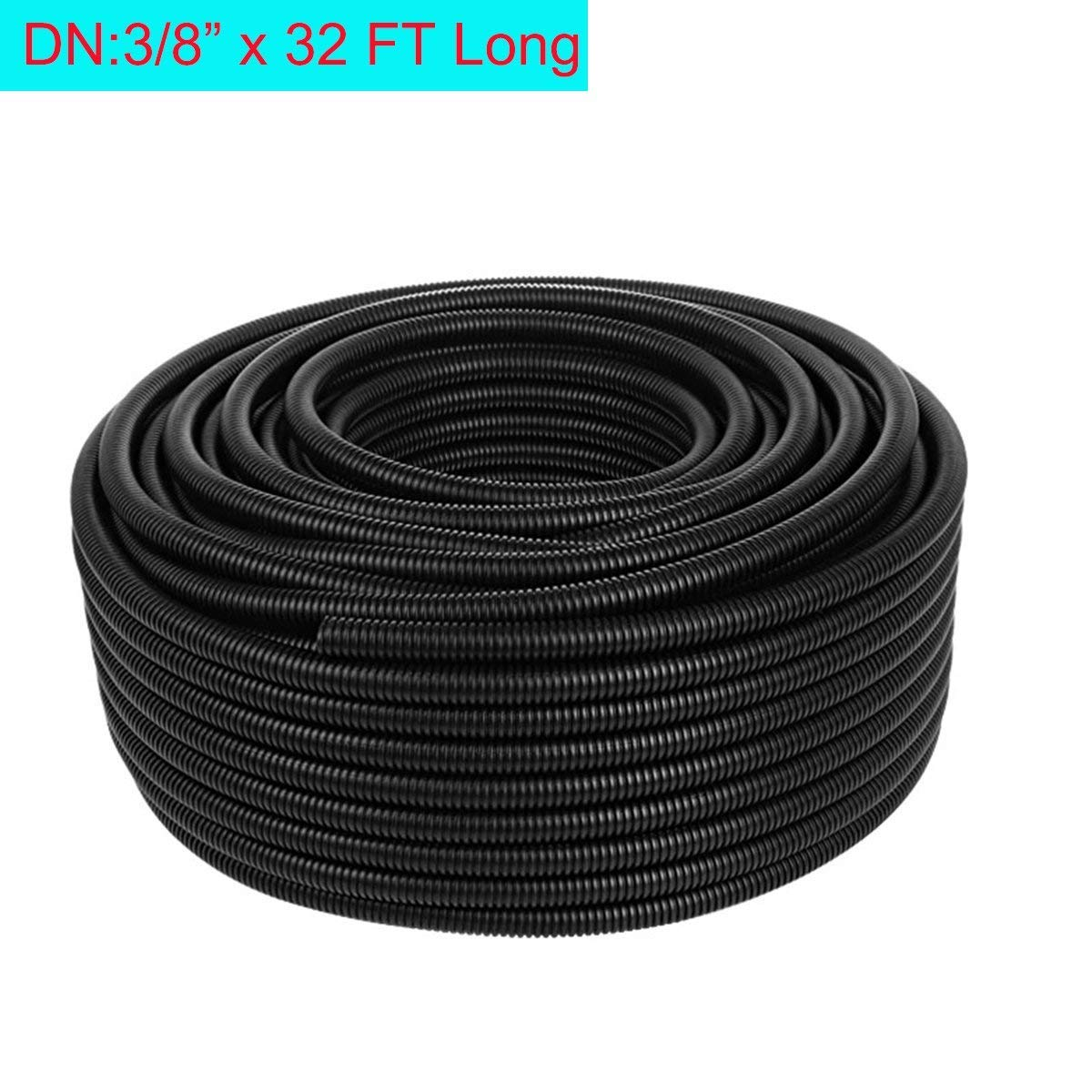 Welsoon Wire Loom,3/8 inch ID 32FT Length Split Loom Tubing Hose PP Wire Conduit Hose Cord Protector for Auto,Household,Workshop Machine