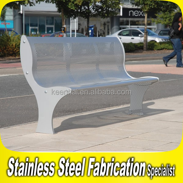 Round Outdoor Bench Stainless Steel Seating Bench Round