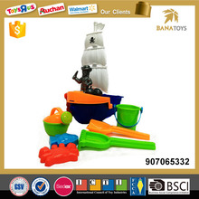 Beach toy small pirate ship with bucket