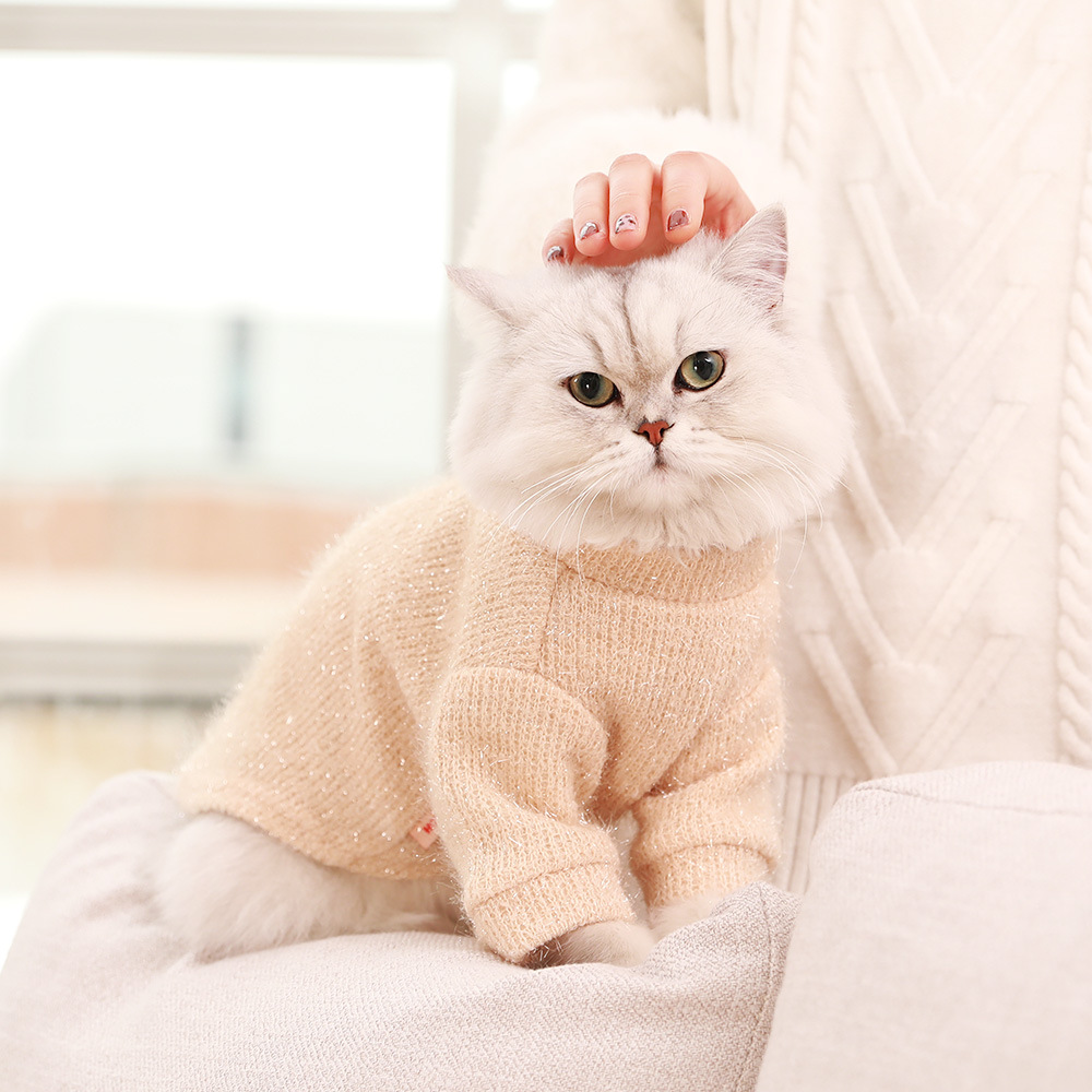 Warm Autumn Winter Knit Cute Cat Sweater For Small Dog Cats