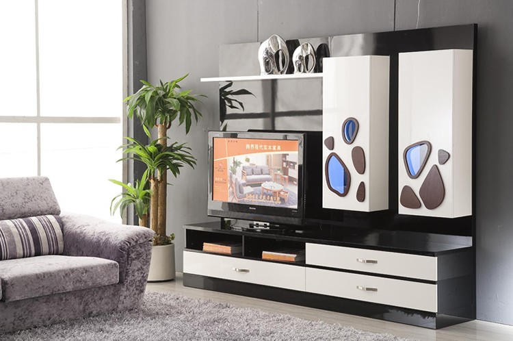 Home Furniture Living Room With Wine Cabinet Lcd Wooden Tv Wall Units Cheap Modern Tv Table New