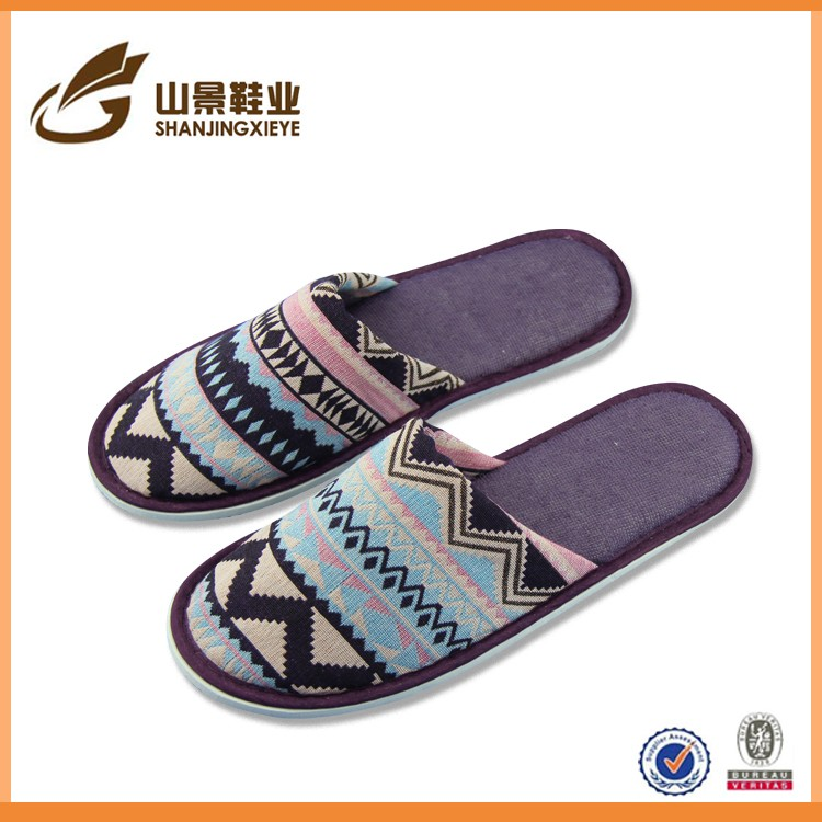 soft new beautiful indoor cotton female towel slippers