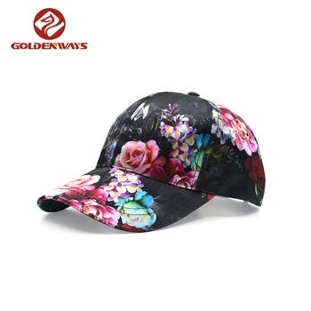 Multi-color Floral Kbethos Oem Satin Baseball Cap - Buy Baseball ... 6de8af112a9