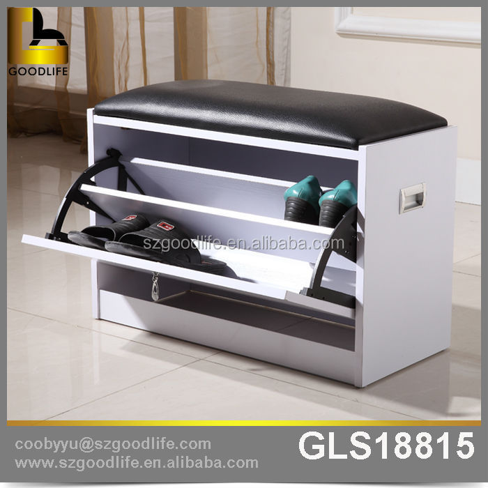 new design shoe rack with seat made in foshan factory