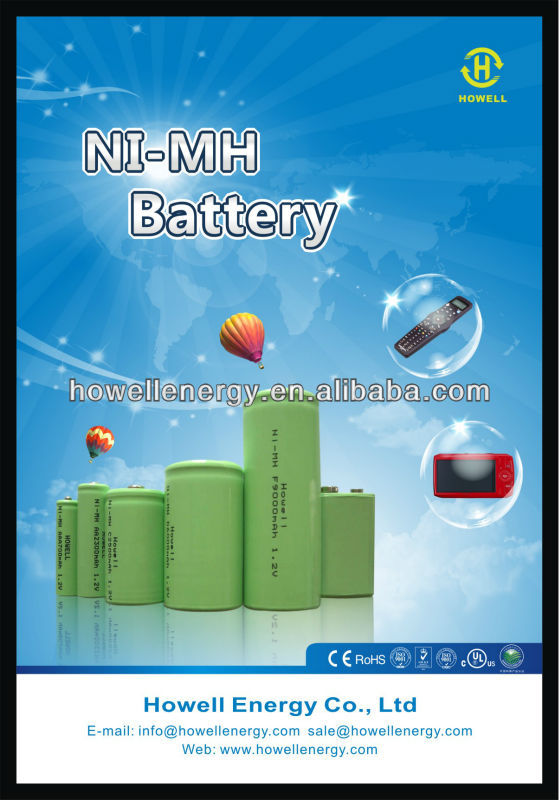 Shenzhen Battery Factory Ni-MH AA 1200mAh 1000mAh 900mAh Flat Top 1.2V Rechargeable Battery