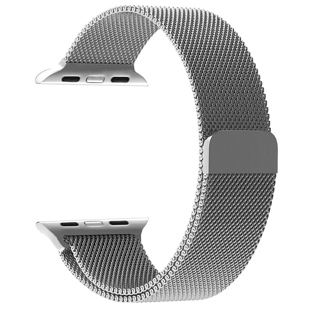 38mm Apple Watch Band Milanese Loop Stainless Steel Bracelet Smart Watch Strap for IWatch 38mm All Models with Unique Magnet Lock, No Buckle Needed SILVER (Silver)