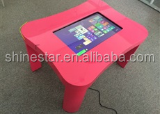 "24"" inch LED interactive table kiosk advertising game touch PC"