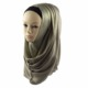 The Muslim hijab multicolor soft comfort muslim scarf flashing women easy to wear