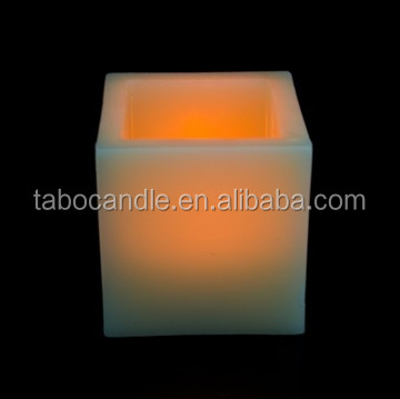 real wax LED embedded flameless candle