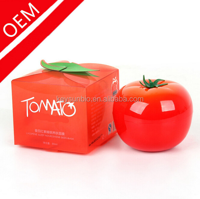 Disposable Tomato Face Sleep Mask, Skin Care Whitening Anti Wrinkle Hyaluronic Acid Beauty Facial Mask