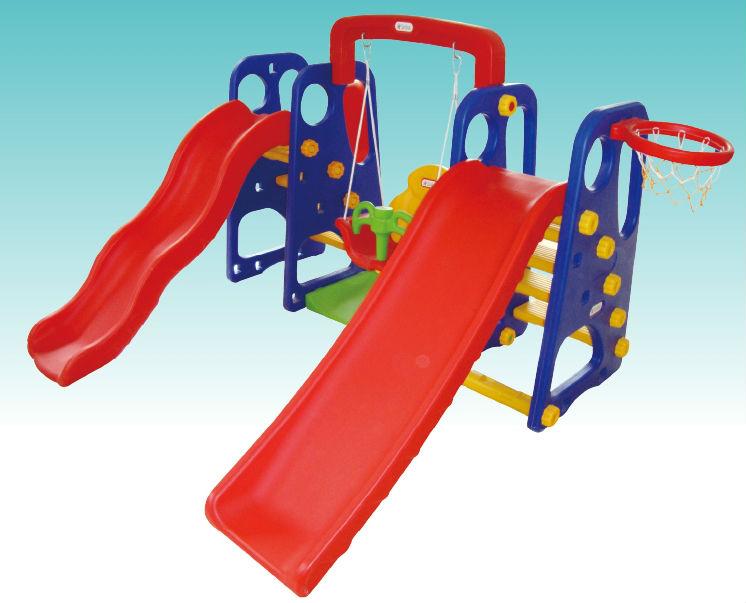 Slides With Basket For Kids And Preschool Plastic Slide Ball Pool