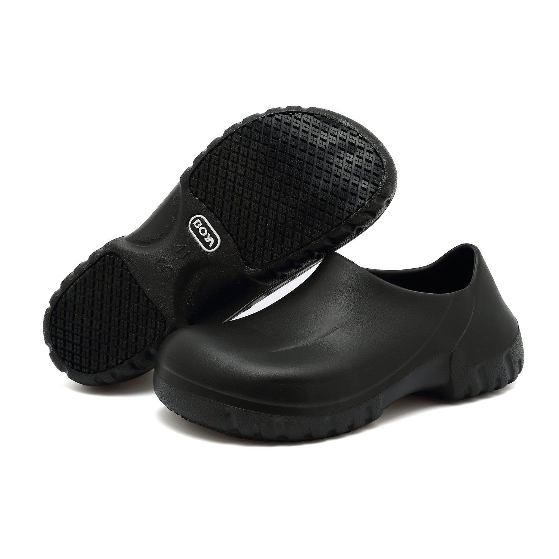 65cf0e161a5e Get Quotations · EASTSURE Slip Resistant Shoes for Women Men Black Non Slip  Kitchen Work Shoes for Nurse Chef