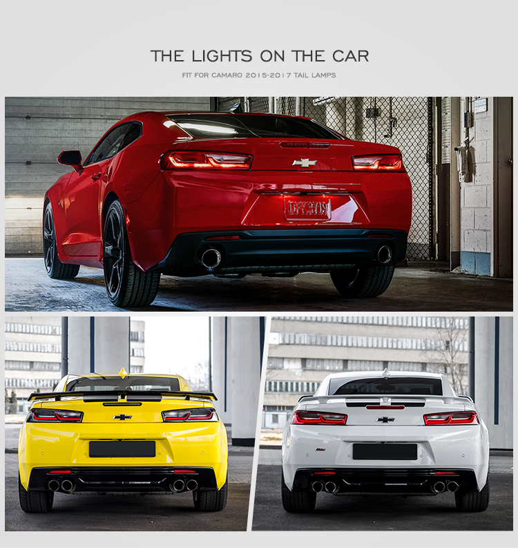 For VLAND wholesales manufacturer led sequential rear light 2016-2018 taillights camaro tail lights