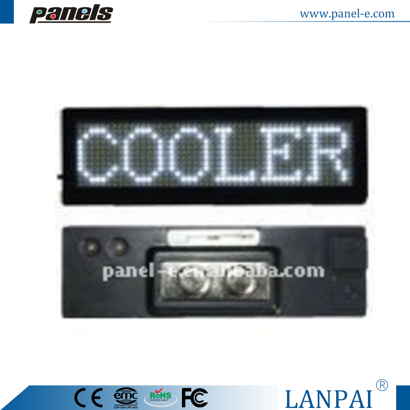 (Direct Manufacturer) LED Badge 48x12 pixel ,led scrolling message tag,digital number display