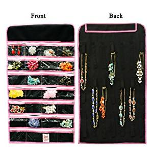 Cheap Hanging Jewelry Organizer With Zippered Pockets find Hanging