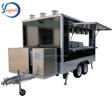 Mobiele fastfood, <span class=keywords><strong>gebruikt</strong></span> box trailer, concessie voedsel trailer Europese Unie CE