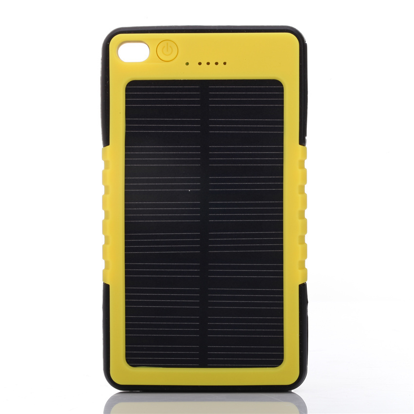 Solar Power Bank 8000MAH Solar Charger Powerbank  bateria externa cargador Waterproof LED lighting for iPhone Samsung LG HTC