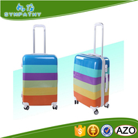 2016 popular new design cheap good quality pu leather vantage elegance luggage