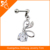 pvd plating dangling ear tragus piercing jewelry with zircone