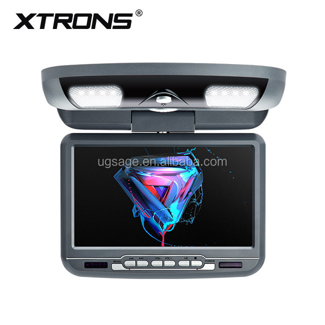 "XTRONS CR9033Grey car central armrest dvd player 9"" TFT Digital screen 16:9 monitor roof mounted car dvd player"
