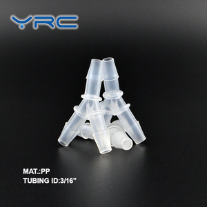 plastic joint 3 way mini barbed pipe fitting Y connector