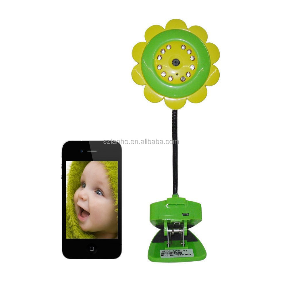 new Sunflower Wireless Wifi Camera Baby Monitor for IPad IPhone Android smartphones