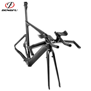 Carbon time trial frame DengFu FM087 Chinese carbon tt bike frames
