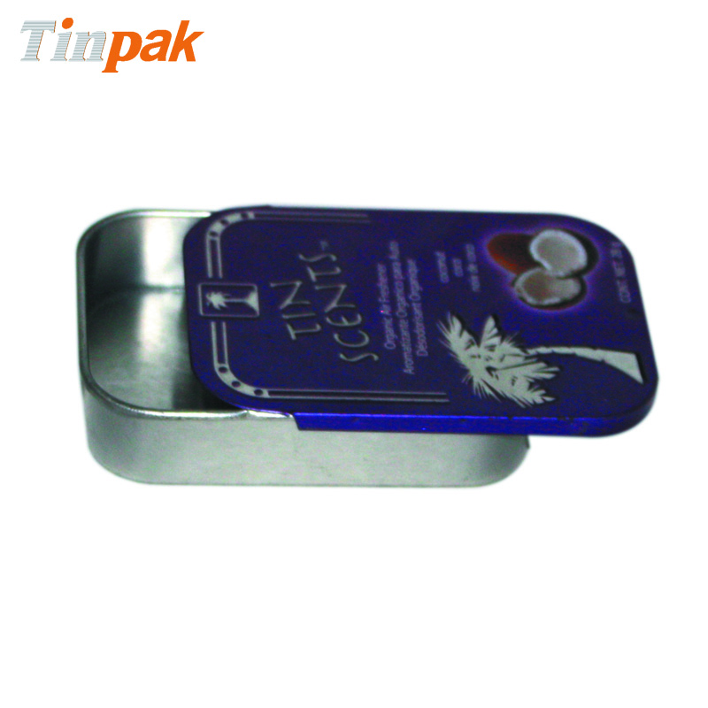 aluminum slide top metal tins for mint