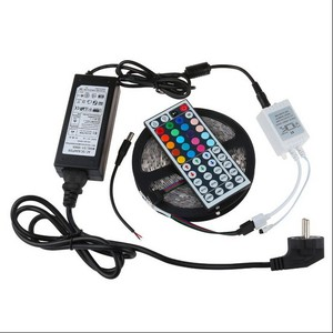 RGB control kit SMD 3528 led rgb stripe 44key 24key remote with adapter for Christmas