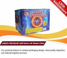 24 Shots 500 gram big cakes fireworks for wholesale