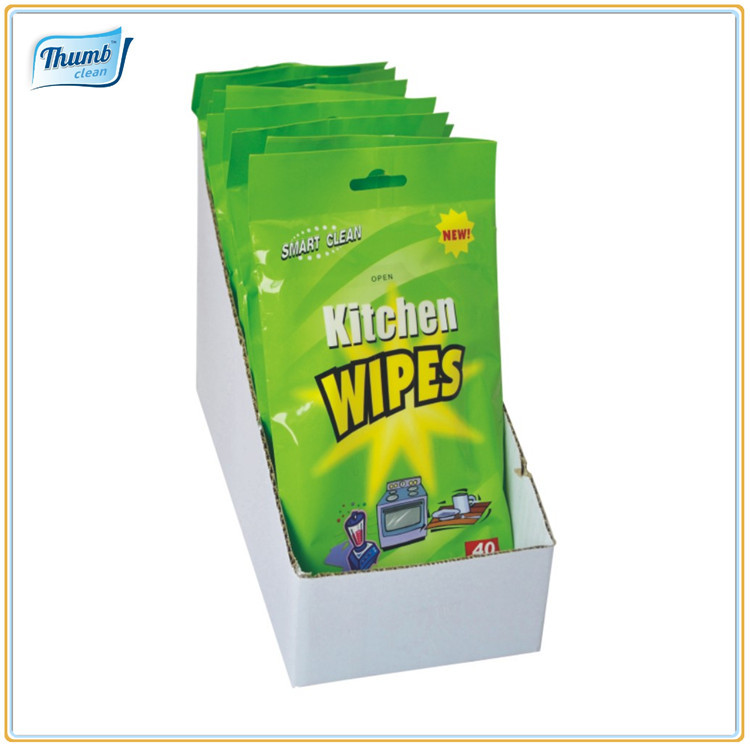 Kitchen Cleaning Wipes: Kitchen Cleaning Wet Wipes,Nonwoven Cleaning Cloth,House