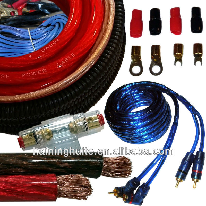 Car Amplifier Installation Wiring Kit Cable Kit 4 For Car Amplifier ...