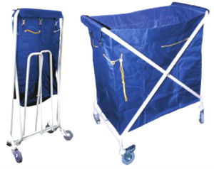 Folded laundry cart with 4 wheels for hot sale
