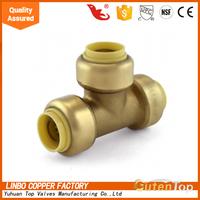 pex al pex pipe equal tee brass fittings 1/2